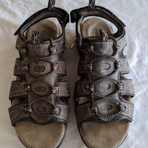 Wrangler Roman Gladiator Open Toe Sandals Brown 11